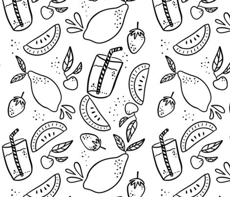 Fresh Squeezed Summer fabric by halfpintprints on Spoonflower - custom fabric