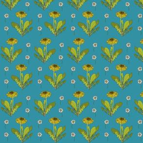 Dandelion repeat turquoise