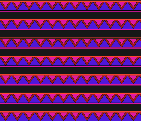 afrocentric inspired shapes purple fabric by victoriapittman on Spoonflower - custom fabric