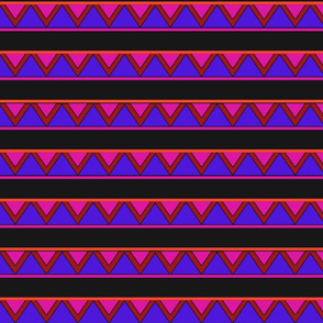 afrocentric inspired shapes purple