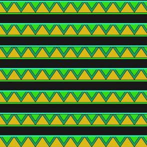 afrocentric inspired shapes green