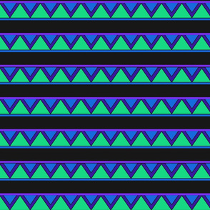 afrocentric inspired shapes blue