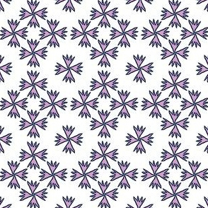 spiky flowers navy and orchid 2 inch limited NOB