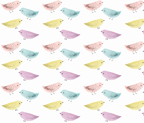 Baby Bird Bright fabric by inmybackyard on Spoonflower - custom fabric