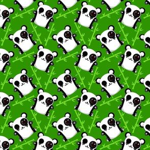 Cute panda grern