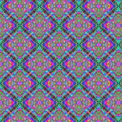 quatrefoil pink teal blur