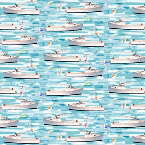 Lobster Boats & Buoys