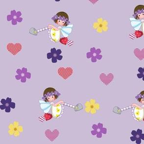 Fairy girl purple