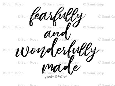 """Fearfully and Wonderfully Made"" Swaddle Blanket"