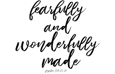 """Fearfully and Wonderfully Made"" Swaddle Blanket fabric by samikoep on Spoonflower - custom fabric"
