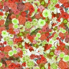Poppies & Greenery