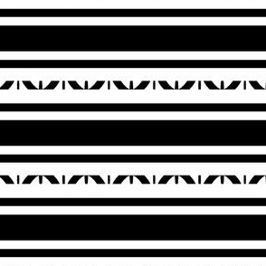 Large Black and White Stripes for Party Decor