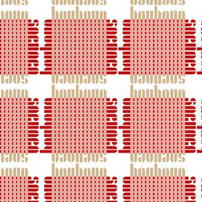 bauhaus grid - white/blush/red