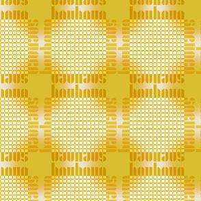 bauhaus grid glow - gold/white/sun