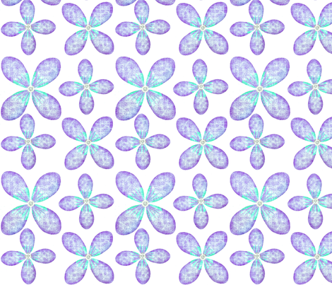 Summer Blossom Purple/Blue fabric by franbail on Spoonflower - custom fabric