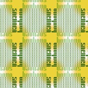 bauhaus grid glow - white/green/sun