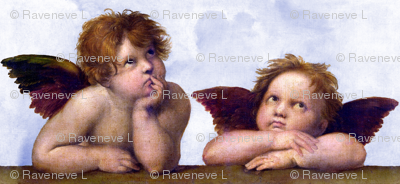 1 famous cherubs angels cupid inspired children boys wings sky clouds seamless victorian egl elegant gothic lolita shabby chic romantic antique vintage