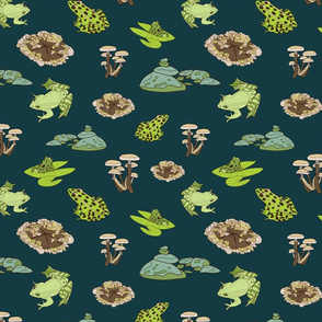 Green Frogs in the Forest