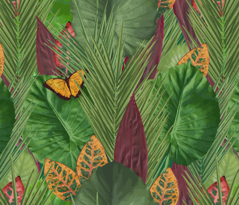 Lush Emerald Rainforest fabric by yourfriendamy on Spoonflower - custom fabric