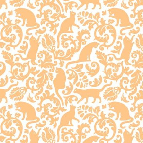 Cats in the garden - gold orange (FFC279)