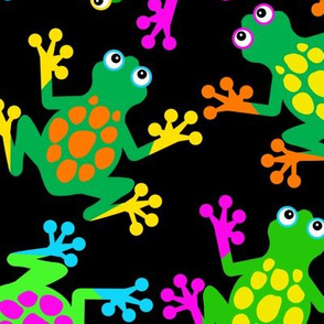Sticky Finger Frogs at Night