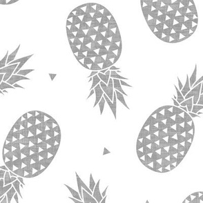 Pineapples - Gray Texture