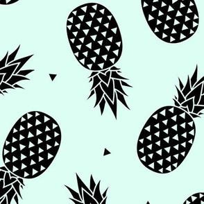 Pineapples - Mint Black