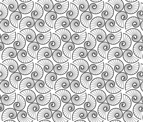 07693733 : shell 6 : outline fabric by sef on Spoonflower - custom fabric
