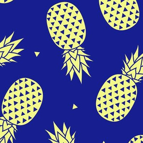 Pineapples -  Blue Yellow