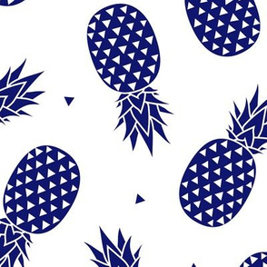 Pineapples - Navy
