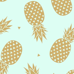 Pineapples - Gold Mint