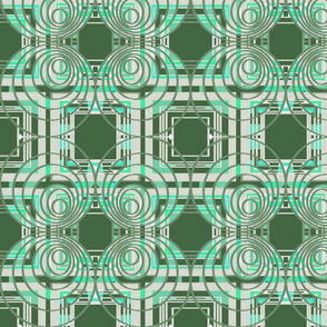 Green geometric op art