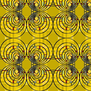 circles triangles squares yellow mustard