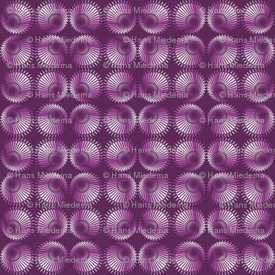 Purple White Rotating Sphere Eye Shape Pattern