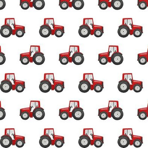 Red Tractor - Basic Repeat 1 inch tall