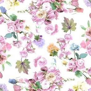 Begonias and Roses Pink