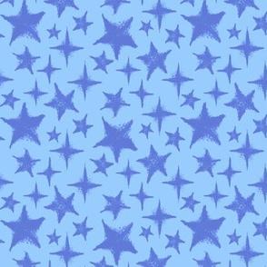 Textured stars -  Light blue