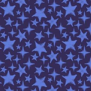 Textured stars - blue