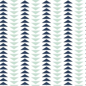 Mint and Navy Triangles