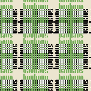typography grid - sand/green/white