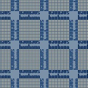 bauhaus grid - blue/blue