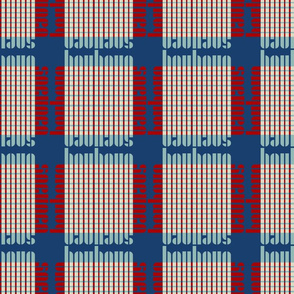 bauhaus plaid - pacific/egg/red