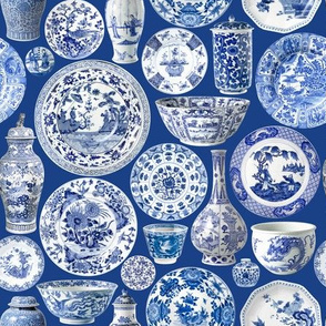 Blue Chinoiserie China Smaller