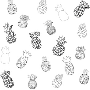 Pineapple- Black and White