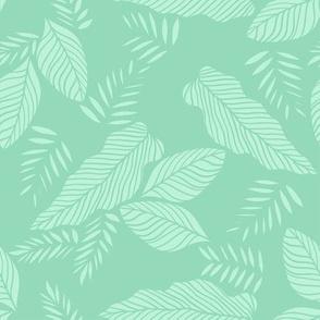 Pastel Jungle Leaf Toss