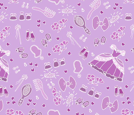 For the little Princess fabric by sviatlana_pakaliuyeva on Spoonflower - custom fabric
