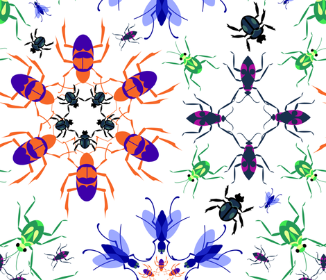 Bug Kaleidoscope BIG fabric by eraerica on Spoonflower - custom fabric