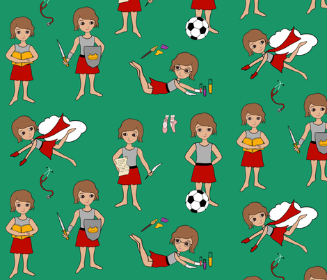 Little, yet Fierce fabric by dreams_and_whimsy on Spoonflower - custom fabric