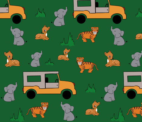 Indian Safari fabric by dreams_and_whimsy on Spoonflower - custom fabric