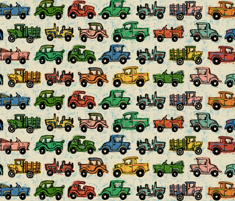 Old-Timey Cars  fabric by gsonge on Spoonflower - custom fabric